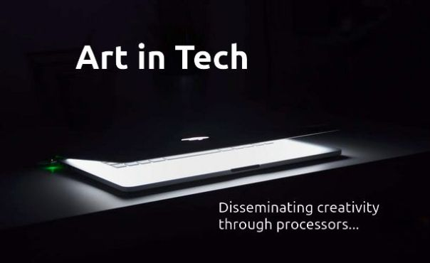 Art in Tech image and Contact Us link