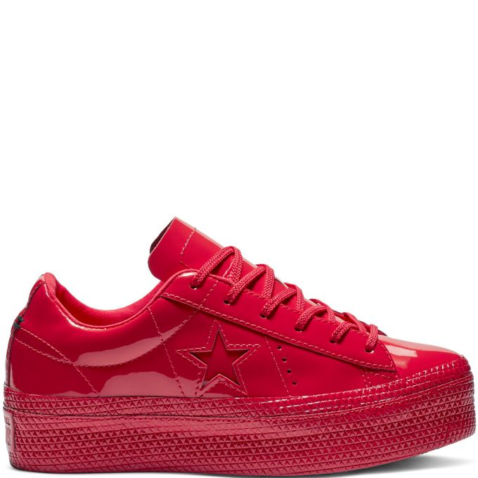 Converse One Star Platform Patented '90s Leather Low Top