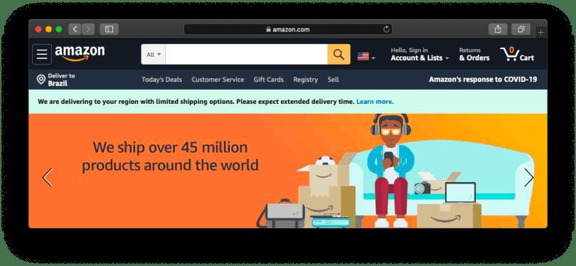 Site Web d'Amazon