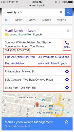 merrill lynch google ads campaign