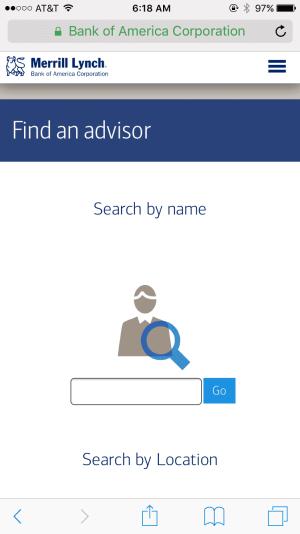 mobile contact form ml.com