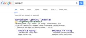 Optimizely AdWords Ad