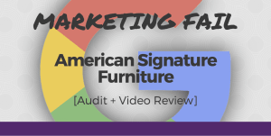 American Signature Furniture marketing fail
