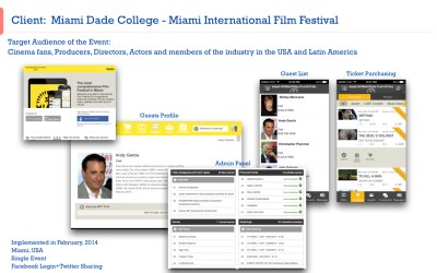 Festival Internacional de Cinema de Miami utiliza o iEvent