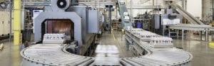 Conveyor line in factory