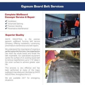 Gypsum Board Belt Flier