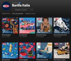 Barilla Italia Spotify playlist is Youtility