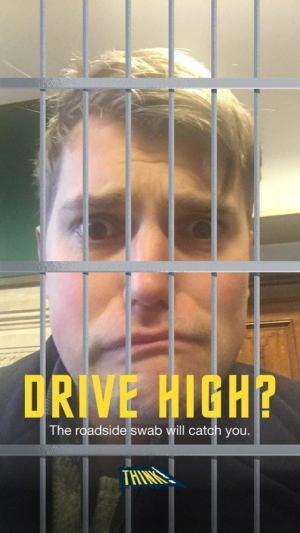 Drug Driving Snapchat campaign