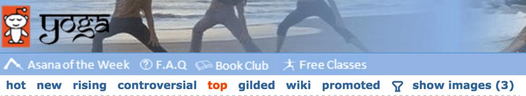 reddit navigation bar