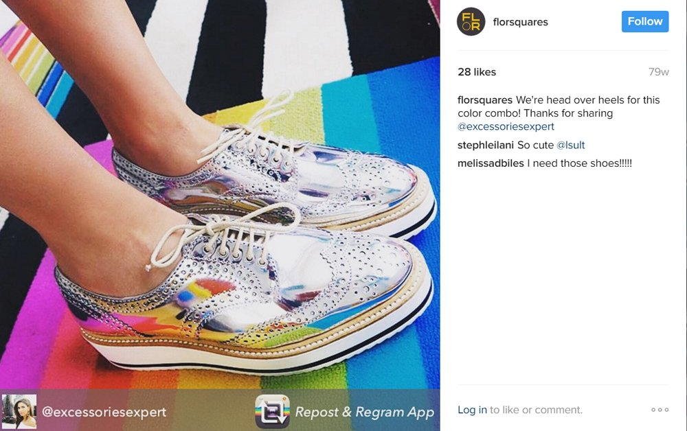 Example of user generated content on Instagram