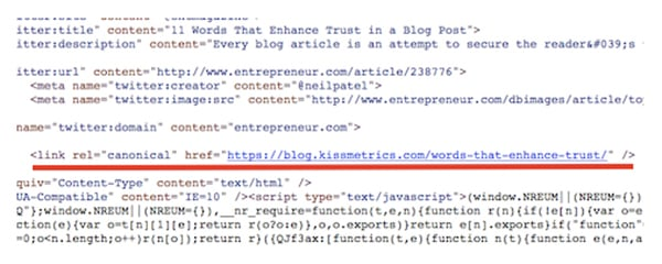 canonical code for reposting blog content safely