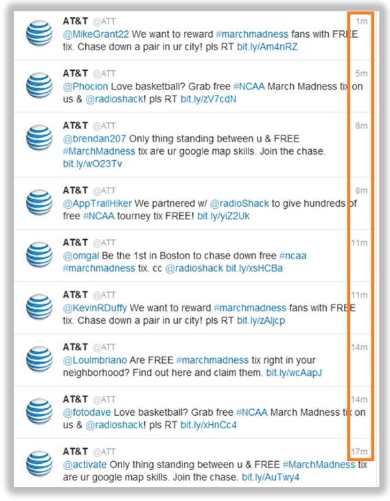 ATT Ticket Chasers social campaign