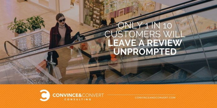 1 in 10 customers will leave a review unprompted
