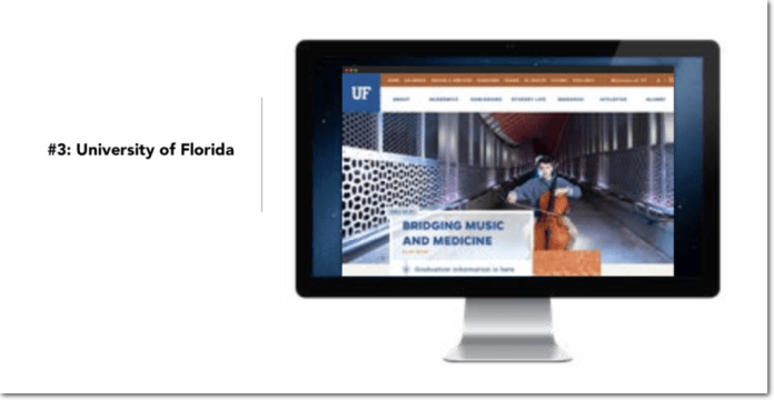 Best University Website Examples: University of Florida