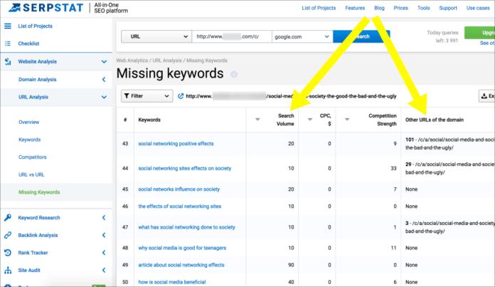Missing Keywords