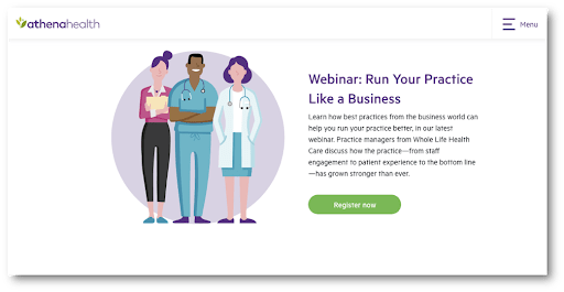 B2B Content Marketing Example from AthenaHealth
