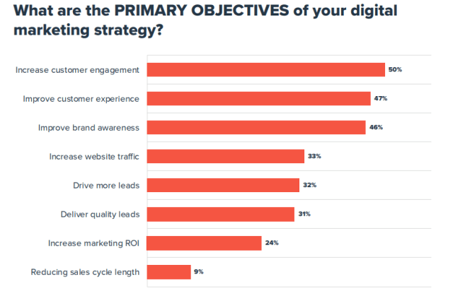 What are the main goals of your digital marketing strategy?