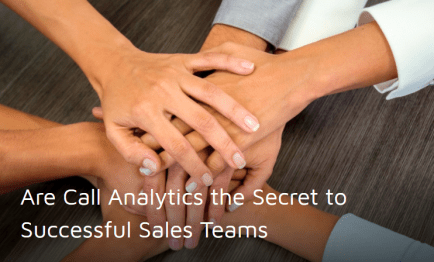 Call analytics to optimize your salesforce