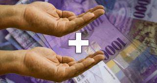 Einkommen Gehalt Korruption Schweizer Franken Hände