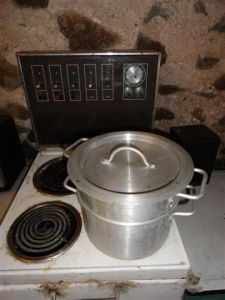 4. Double boiler in use