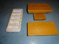 Large beeswax blocks