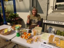 Selling at Conwy Honey Fair