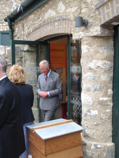 The Prince of Wales at the opening of Bees Wales in 2012