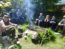 Bangor Forest Garden, with Incredible Edible Conwy members