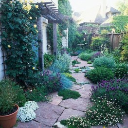 Gorgeous Front Yard Courtyard Landscaping Ideas 34