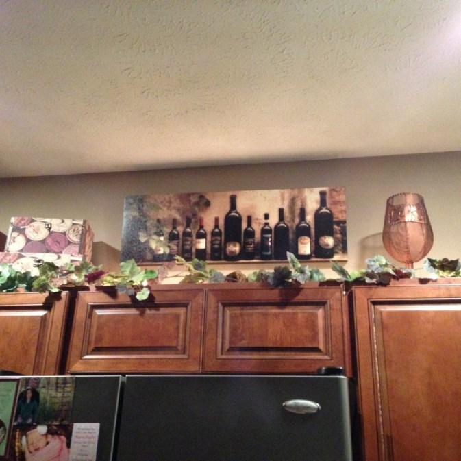 Awesome Decorating Above Kitchen Cabinets 45