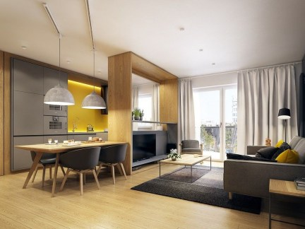 Beautiful Modern Small Apartment Design Ideas 25