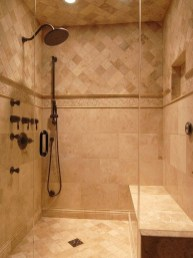 Creative Master Bathroom Shower Remodel Ideas 12