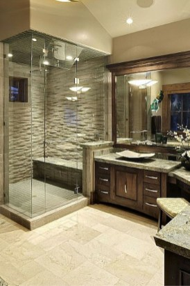 Creative Master Bathroom Shower Remodel Ideas 34