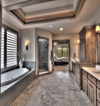 Creative Master Bathroom Shower Remodel Ideas 41