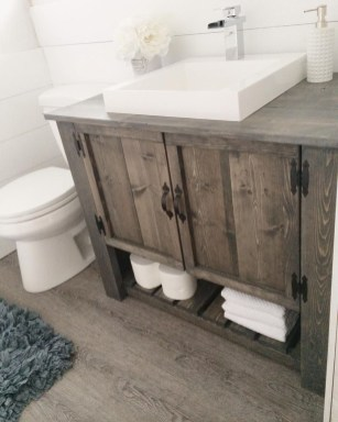 Gorgeous Rustic Farmhouse Bathroom Decor Ideas 17