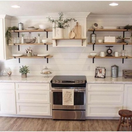 Cute Farmhouse Kitchen Backsplash Ideas 48