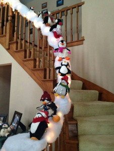 Gorgeous Ways To Decorate Your Stairs In This Christmas Ideas 30