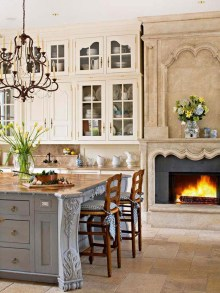 Delightful French Country Kitchen Design Ideas 24