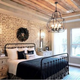 Stylish Farmhouse Bedroom Decor Ideas 37