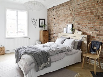Wonderful Ezposed Brick Walls Bedroom Design Ideas 03