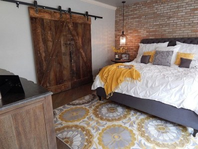 Wonderful Ezposed Brick Walls Bedroom Design Ideas 22