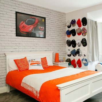 Wonderful Ezposed Brick Walls Bedroom Design Ideas 29