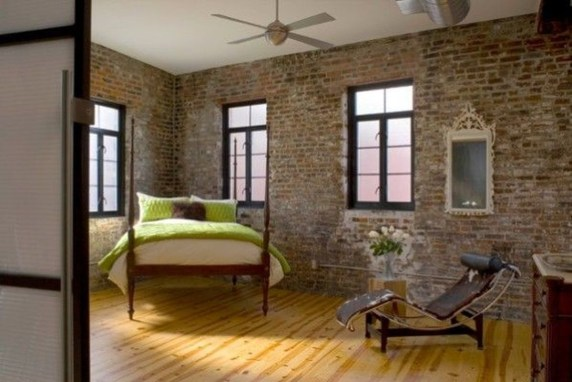 Wonderful Ezposed Brick Walls Bedroom Design Ideas 47