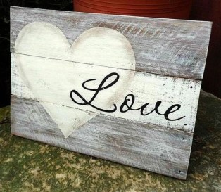 Wonderful Love Wood Sign Ideas For 2019 11