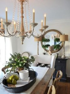 Amazing French Country Dining Room Table Decor Ideas 20