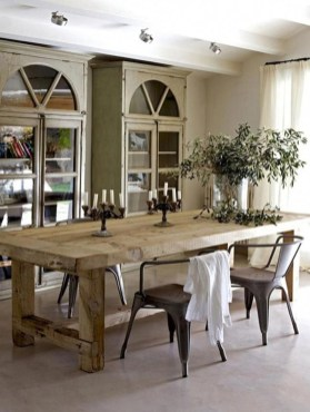 Amazing French Country Dining Room Table Decor Ideas 24