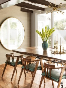 Modern Mid Century Dining Room Table Decor Ideas 07