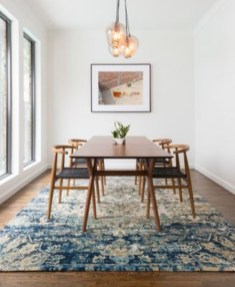 Modern Mid Century Dining Room Table Decor Ideas 10