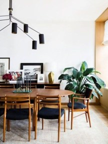 Modern Mid Century Dining Room Table Decor Ideas 14