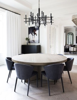 Modern Mid Century Dining Room Table Decor Ideas 32